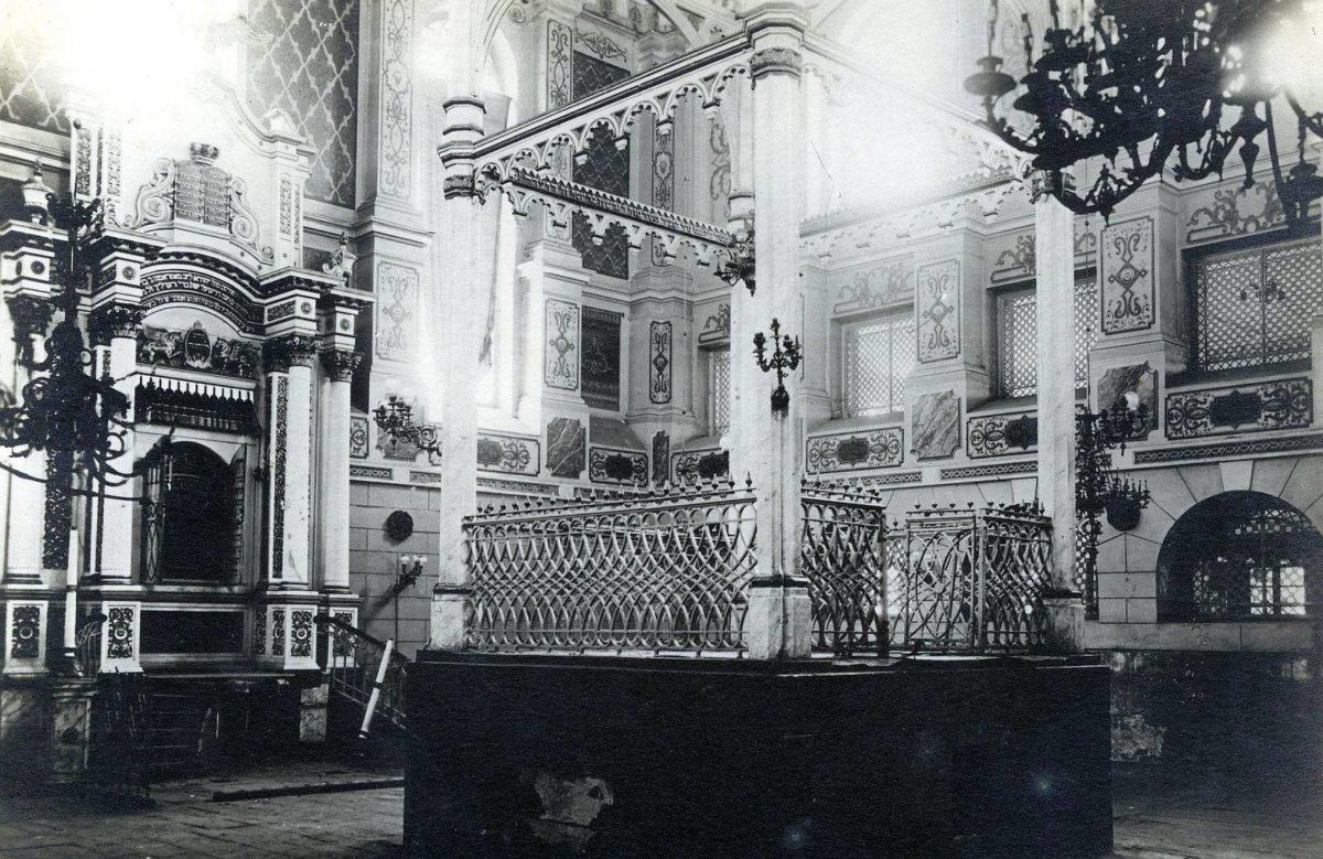 Wielka Synagoga w Kaliszu rozebrana przez Niemców w 1940 roku i Synagoga Nowa Reformowana zburzona w 1940 roku